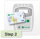Step 2 of 3 - Hold your card near the reader