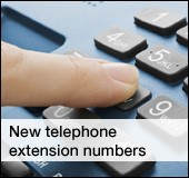 New telephone extension numbers