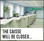 Head office exceptionally closed on Saturday, February 20, 2016