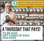 A thursday that pays! to be won gift cards of $250 and over.
