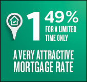 A very attractive mortgage rate: 1.49% for a limited time only